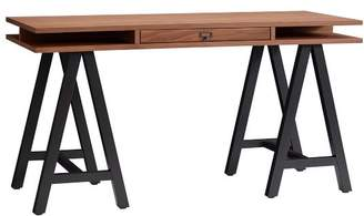 Pottery Barn Teen Customize-It Storage A Frame Desk, Water-Based Walnut Desktop / Matte Black Base