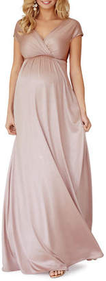 Tiffany & Co. Rose Maternity Francesca Short-Sleeve Maxi Dress