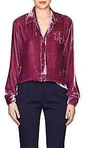 Juan Carlos Obando Women's Velvet Shirt-Pink