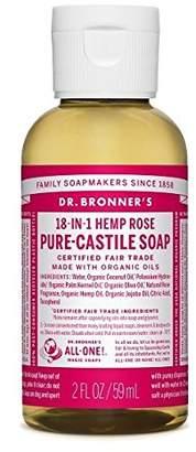 Dr Bronner Organic Rose Castile Liquid Soap 59 ml
