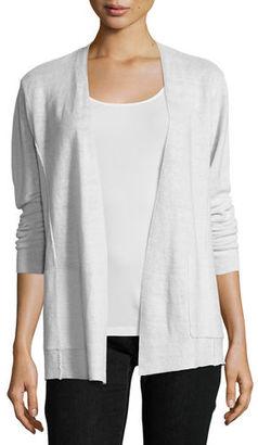 Eileen Fisher Fine-Gauge Organic Linen Cardigan $198 thestylecure.com