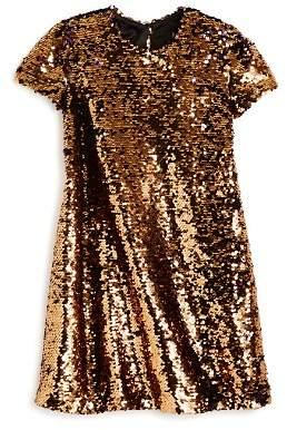 Bardot Junior Girls' Faith Sequin-Flip Swing Dress - Little Kid