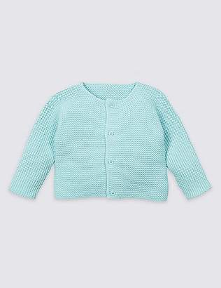 Marks and Spencer Pure Cotton Chunky Knit Cardigan