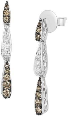 LeVian Le Vian Women's Chocolatier Vanilla Diamond, Chocolate Diamond and Vanilla Gold Earrings