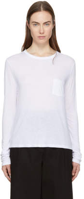 Alexander Wang White Long Sleeve Classic T-Shirt