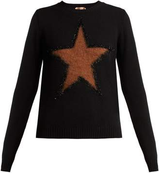 No.21 NO. 21 Star virgin-wool sweater