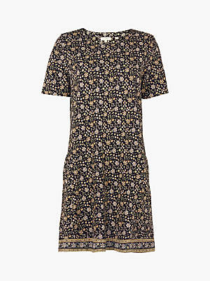 Fat Face Meadow Daisy Dress, True Black