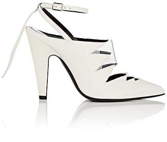 Calvin Klein Women's Kai Leather Ankle-Strap Pumps - White Size 6