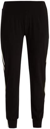 Norma Kamali Side-stripe jersey leggings