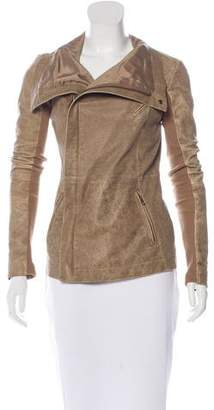 Veda Distressed Leather Jacket