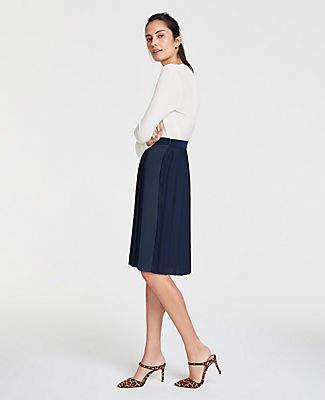 5d6cbb6fca Ann Taylor Colorblock Pleated Full Skirt