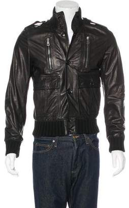 Gucci Leather Flight Jacket