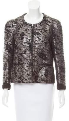 Comptoir des Cotonniers Brocade Zip-Up Jacket