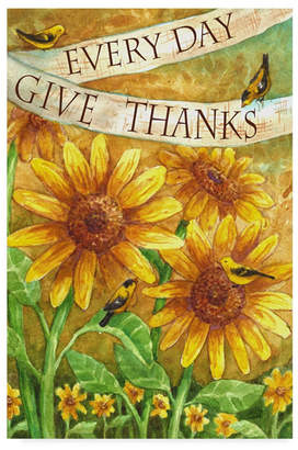 "Melinda Hipsher unflower Give Thanks Everyday' Canvas Art - 30"" x 47"""