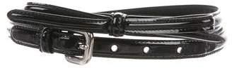 Prada Bow Skinny Belt