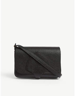 Burberry Hampshire grained leather wallet-on-chain