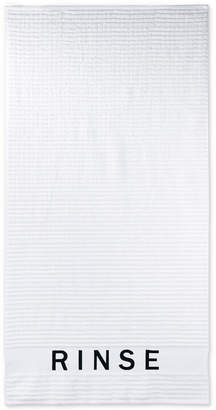 DKNY Chatter Cotton Embroidered Ribbed Bath Towel Bedding