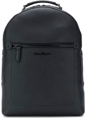 Salvatore Ferragamo embroidered logo backpack