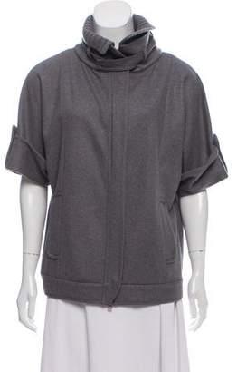 Brunello Cucinelli Wool-Cashmere Zip-Up Jacket