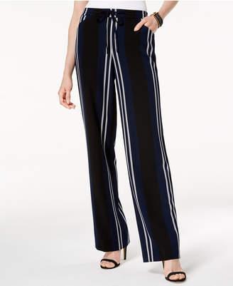 INC International Concepts I.n.c. Striped Wide-Leg Pants