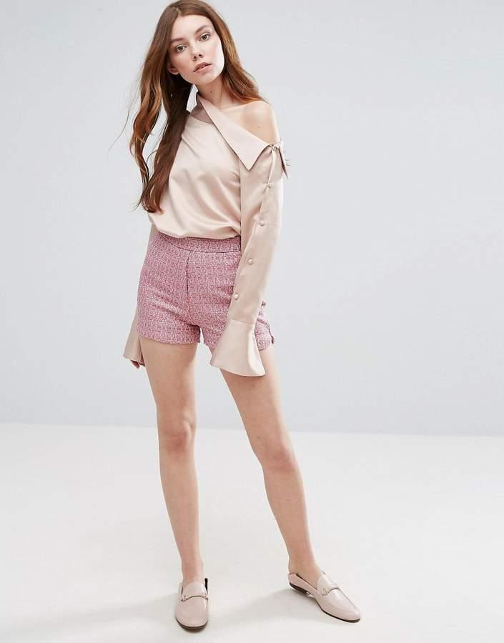 Neon Rose – Strukturierte Shorts