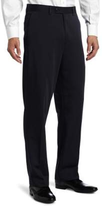 Louis Raphael Men's Big Flat Front Gabardine Solid Dress Pant