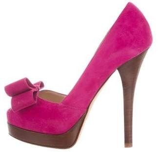 Fendi Suede Platform Pumps