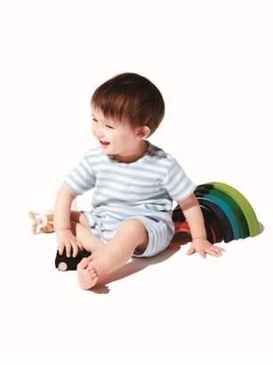 Gelato Pique (ジェラート ピケ) - gelato pique Kids&Baby パイルボーダー baby ロンパース