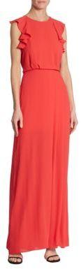 BCBGMAXAZRIA Angelika Ruffled Gown $298 thestylecure.com
