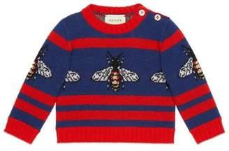 Gucci Baby bee jacquard wool sweater