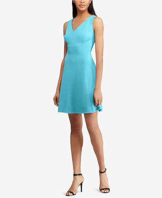 American Living Textured V-Neck Dress