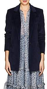 BLAZÉ MILANO Women's Timeless Cotton Corduroy Blazer - Navy