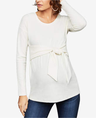 A Pea in the Pod Maternity Tie-Front Top