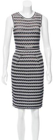 Christian Dior Two-Tone Knit Dress