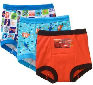 Disney Pixar Toddler Boys' Training Pants, 2T, 3 Pack