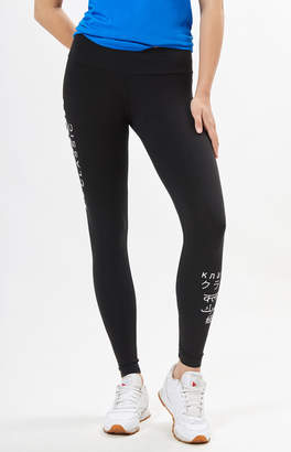 Reebok Black Graphic Leggings