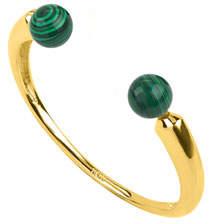Noir Malachite Open Cuff Bracelet