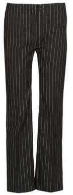 Alexander McQueen Pinstripe Flared Pants