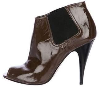 KORS Patent Leather Peep-Toe Booties