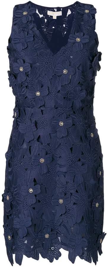 guipure floral lace mini dress