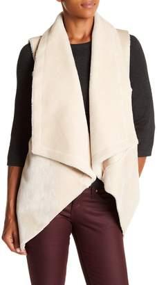 Dolce Cabo Faux Fur Draped Vest