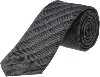 Dolce & Gabbana Grey Stripe Silk-Blend Tie