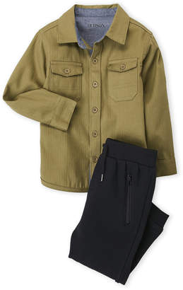 Hudson Toddler Boys) Two-Piece Shirt & Jogger Set
