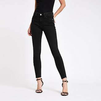 River Island Black Amelie RI washed super skinny jeans