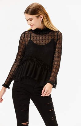 Kendall & Kylie Lace High Neck Top