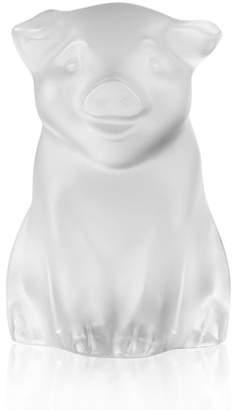 Lalique Pig Figurine