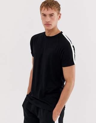 Brave Soul side stripe jersey t-shirt