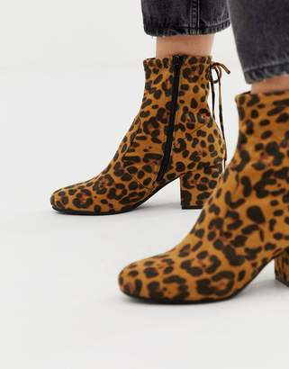Head Over Heels by Dune Oakley heeled ankle boots in leopard