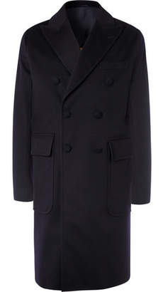 Officine Generale Double-Breasted Storm System Wool Overcoat