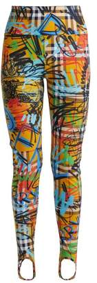Burberry Mania Graffiti Print Stirrup Hem Leggings - Womens - Multi